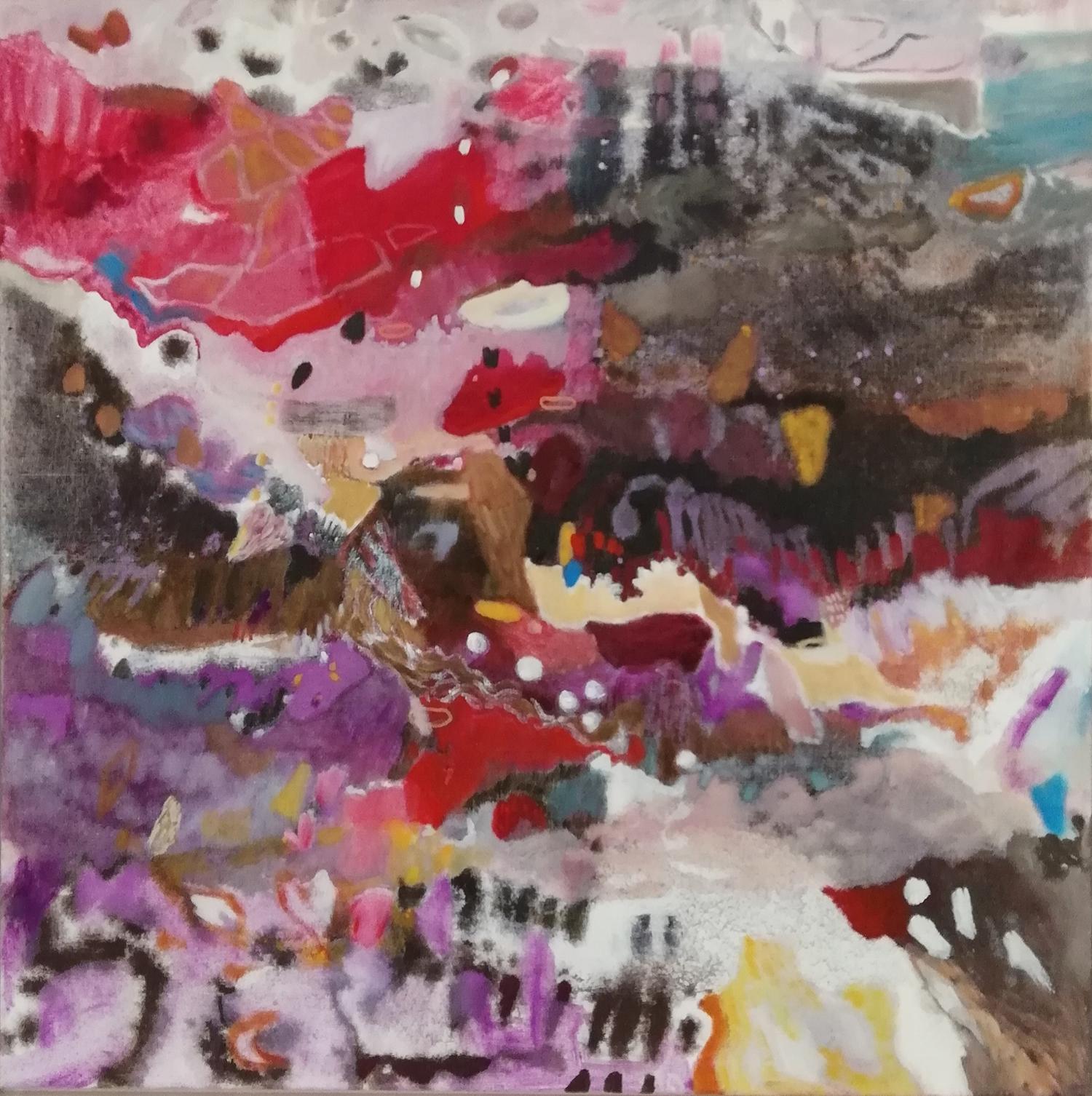 Schilderij in olieverf met de titel 'Cranberrywalk' door Ilse Brul