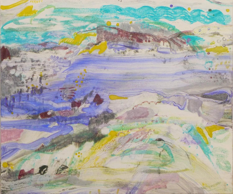 Schilderij 'Duintjes' in ei-tempera op paneel - Ilse Brul