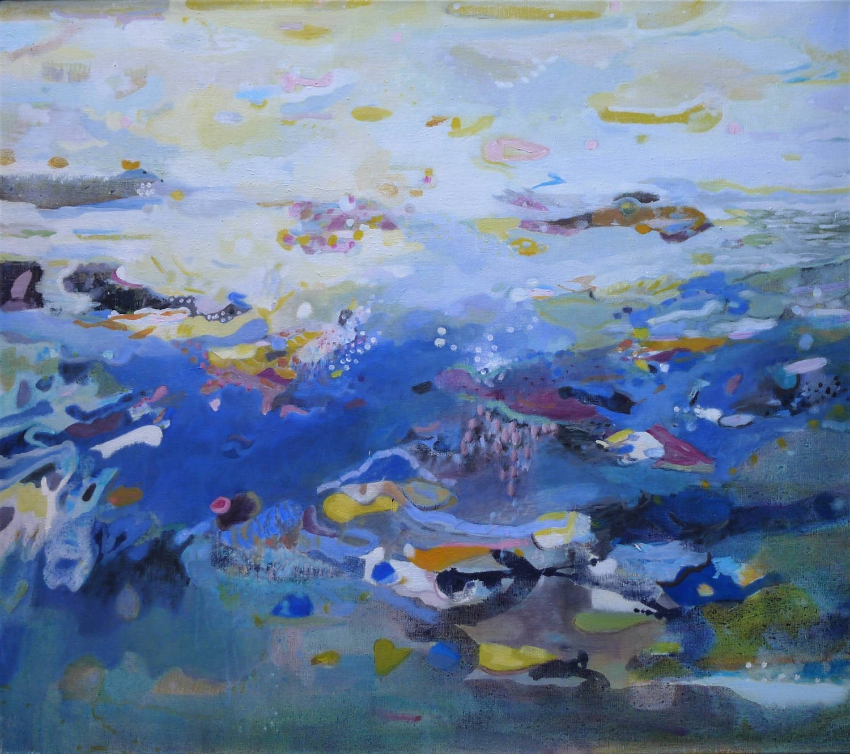 Schilderij in olieverf 'Kwelder en Wad'