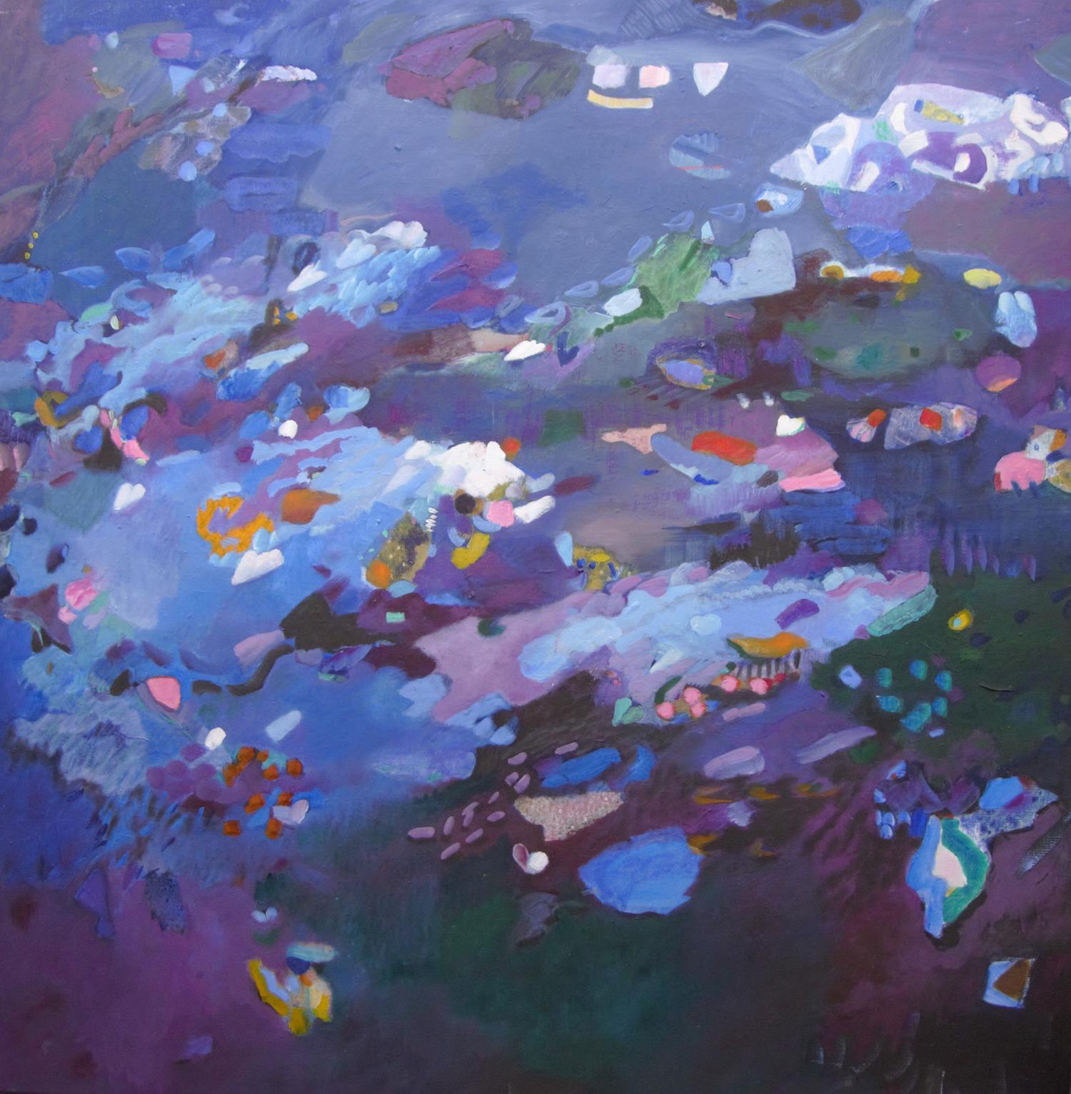 Schilderij in olieverf met de titel 'Schemer' door Ilse Brul