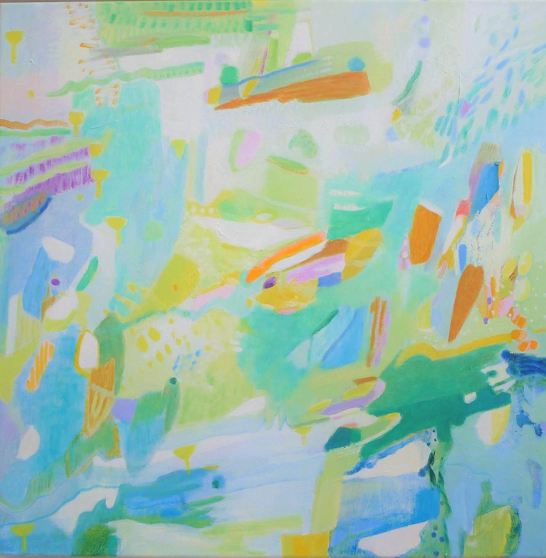 Schilderij in olieverf met de titel 'Wadden' door Ilse Brul