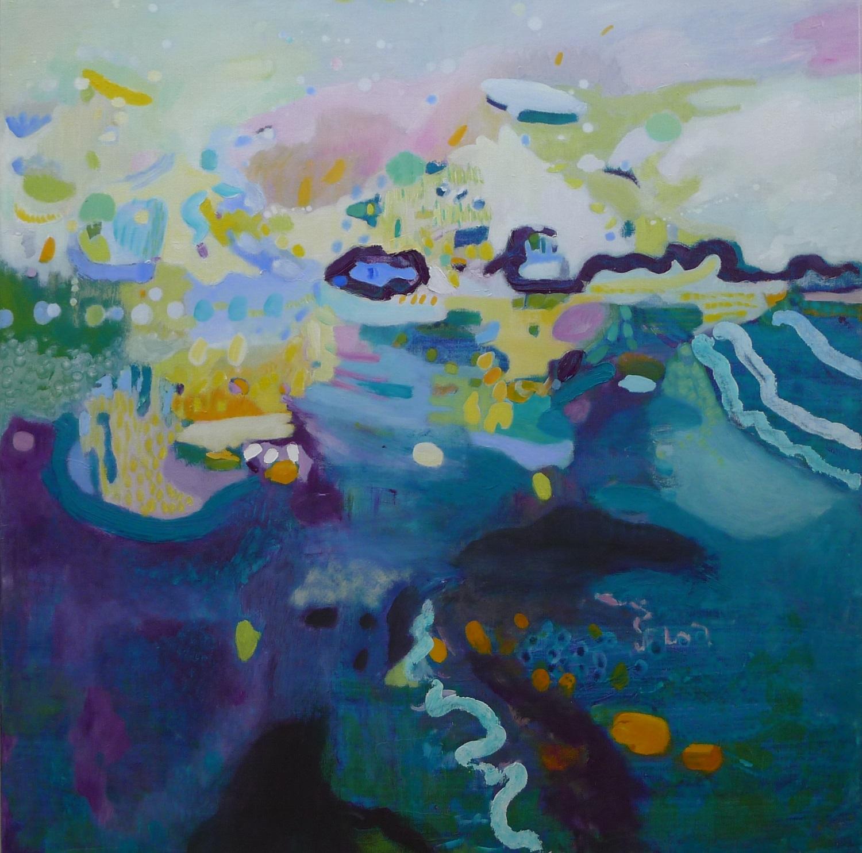 Hogeland, olieverf op linnen, geschilderd door Ilse Brul