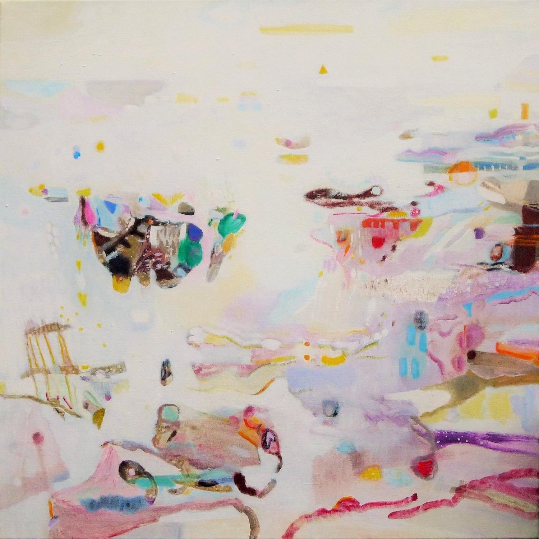 Landscape in mind, geschilderd door Ilse Brul