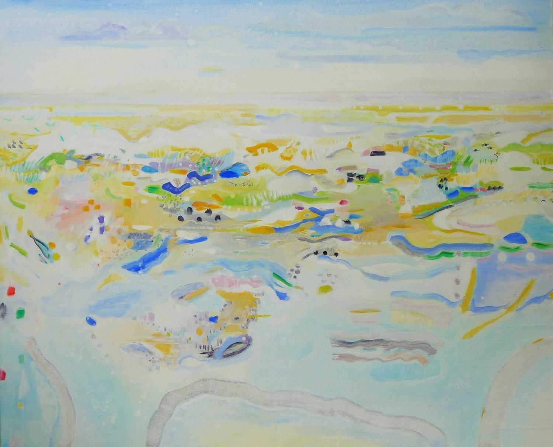 Schilderij 'Terschelling' in olieverf op linnen door Ilse Brul