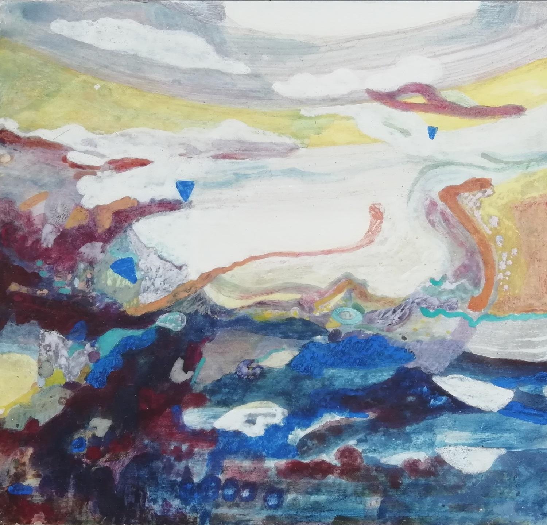 Wadden, eitemperaschilderij op paneel door Ilse Brul