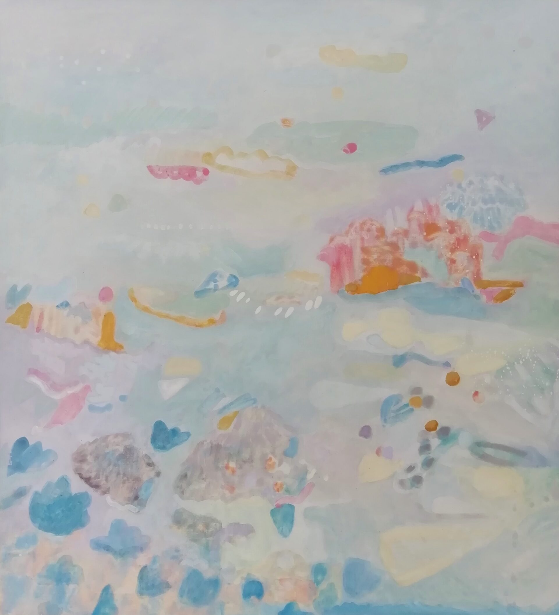 Enchanted Isle, 50 x 55 cm. eitempera op paneel